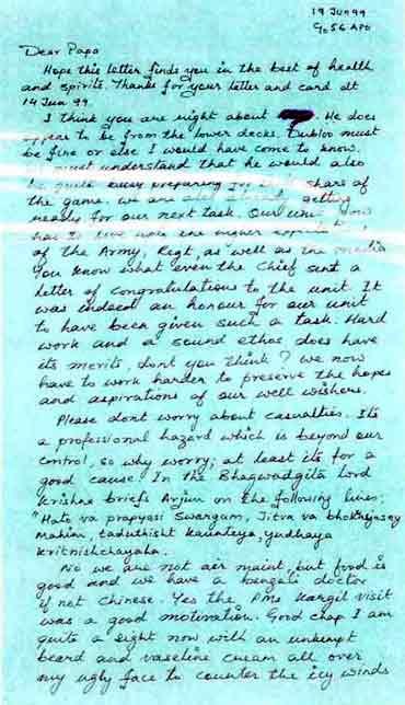 Major Acharya's Letter